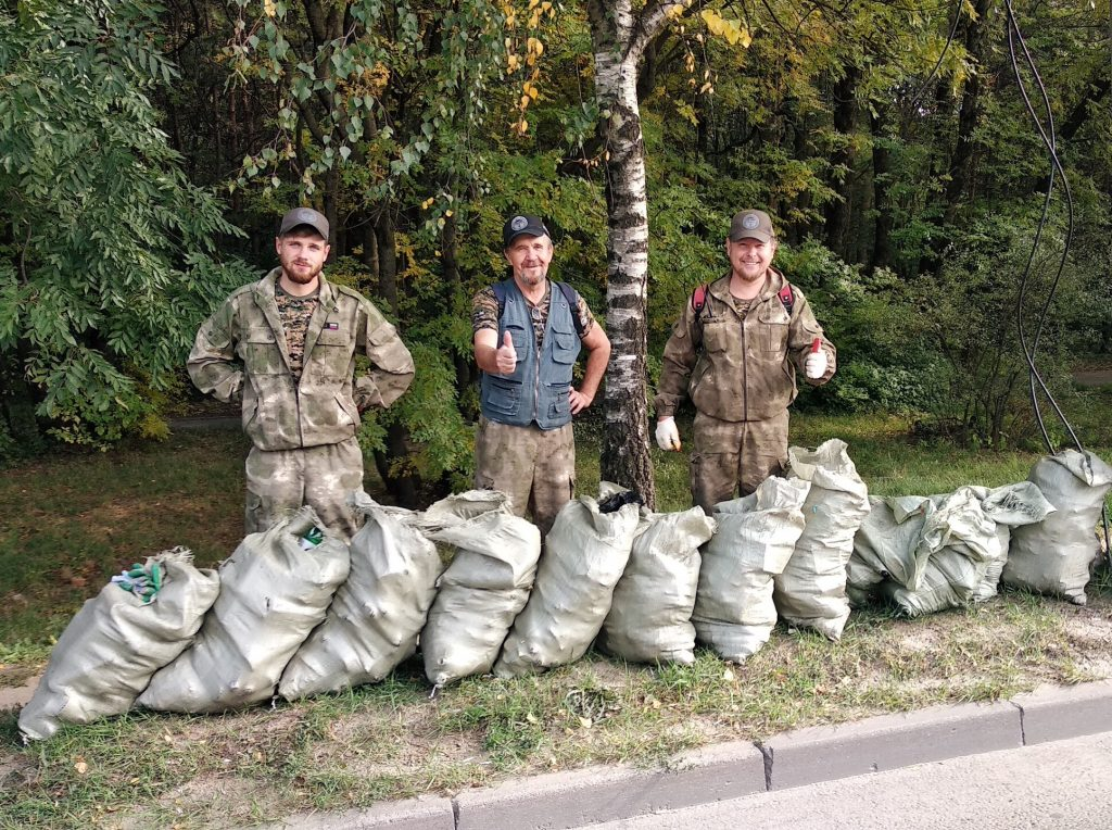 В этом сезоне Таманский лес Ставрополя стал чище на 500 мешков мусора